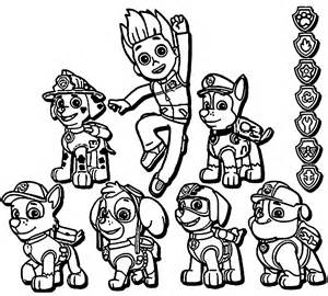 paw patrol pups coloring pages paw patrol coloring page coloring home
