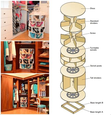 diy lazy susan shoe storage pin by kern on diy