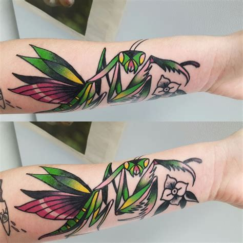 amulet tattoo praying mantis by williams at amulet tattoos