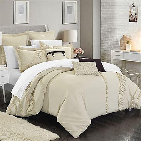 12 piece bedding set chic home lucerne 12 piece comforter set bed bath beyond