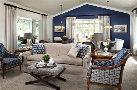accent walls in living room blue and white interiors living rooms kitchens bedrooms