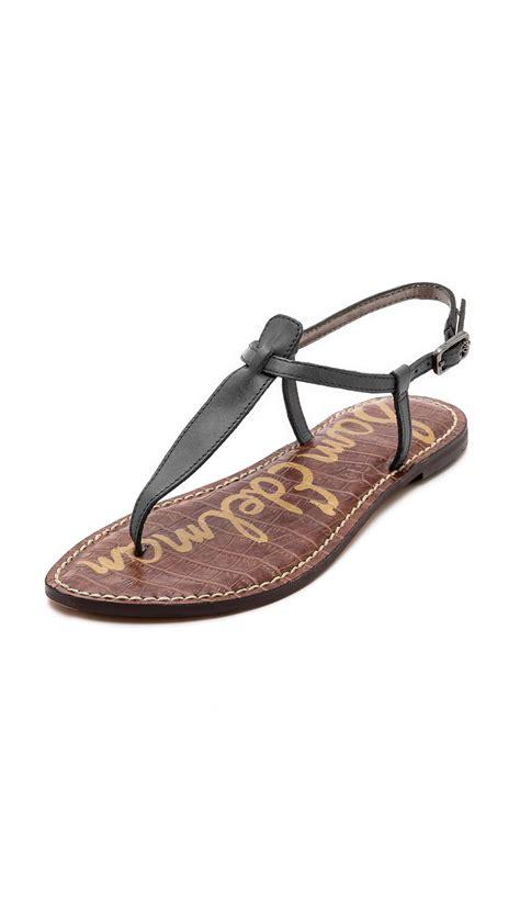 edelman sandals sam edelman gigi flat sandals in blue lyst