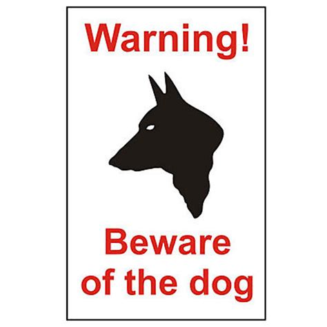 beware the dog house warning beware of the dog house sign 150mm