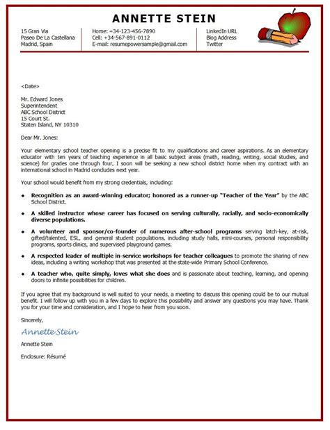 resume cover letter exles for teachers career change cover letter sle