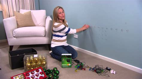 christmas light tree for your walls by tara dennis youtube