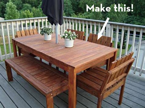 Woodworking Plans For Outdoor Dining Table