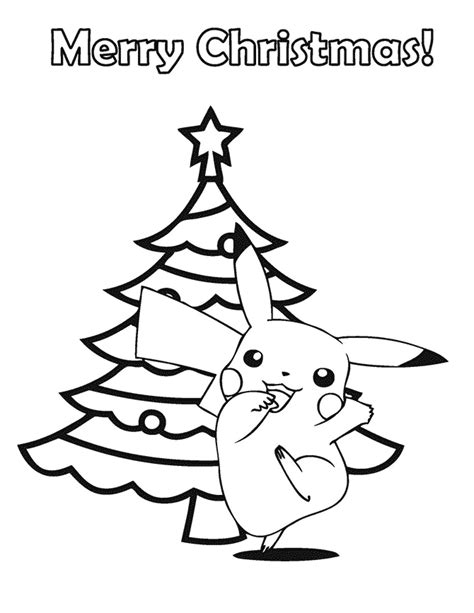 christmas coloring pages pokemon pikachu with hat images