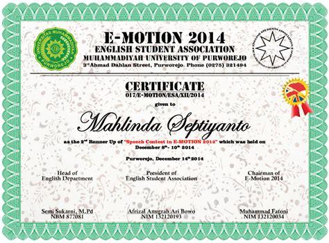 contoh sertifikat  bahasa inggris