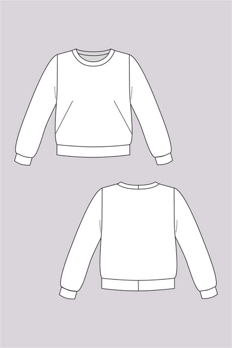 sweatshirt pattern sloane sweatshirt sewing pattern by named clothing