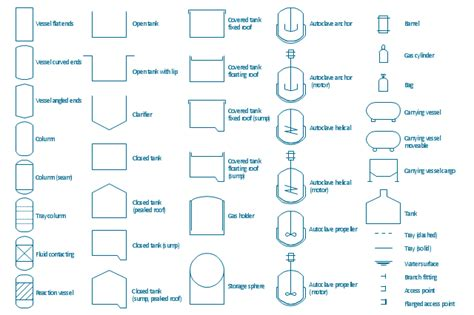 design elements vessels chemical engineering vector stencils library jet fuel mercaptan
