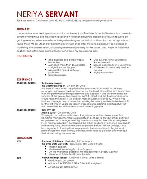 Waiter Resume by 6 Sle Waitress Resumes Sle Templates