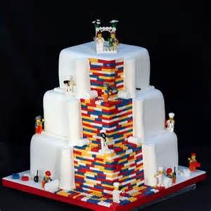 lego Wedding cake 2 lego wedding cake on birthday cake with guitar images