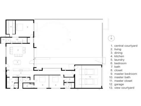 style home plans with courtyard modern courtyard house plans mexican style courtyard house