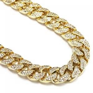 Home chains iced out chains 11mm miami cuban link cz gold chain 30 quot