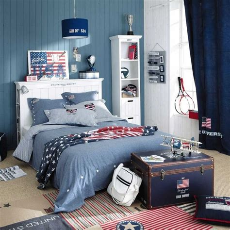 decoration americaine pour chambre d 233 co chambre ado murs en couleurs fra 238 ches en 34 id 233 es