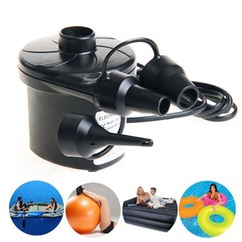 240v 12v electric air inflator nozzles airbed mattress boat pool ebay