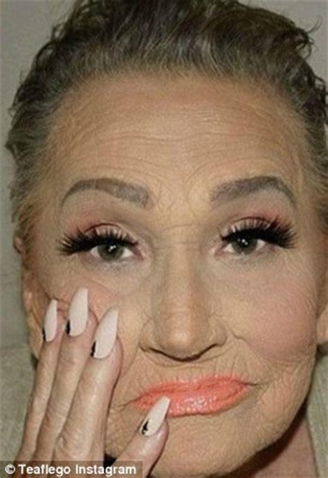 makeoerv for 60 yrs old woman kim kardashian style makeover leaves croatian grandmother
