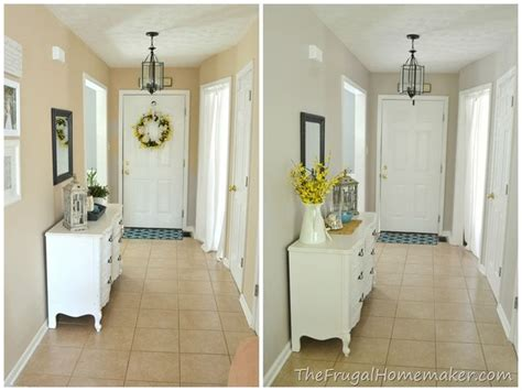entryway beforeafter whole length for the home taupe hallways and behr