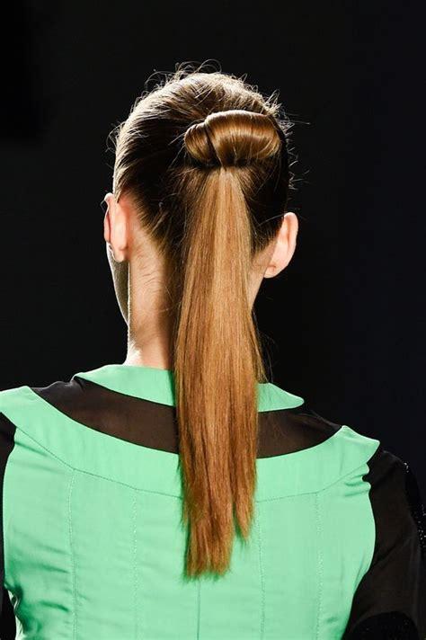 hybrid bun ponytails  bun