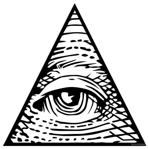 illuminati eye quot illuminati eye of providence quot by boxsmash redbubble