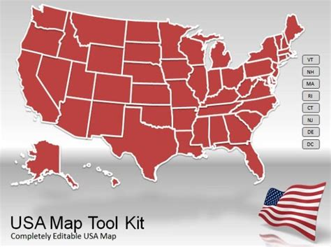 Us Map Powerpoint Template Powerpoint Us Map Template Free