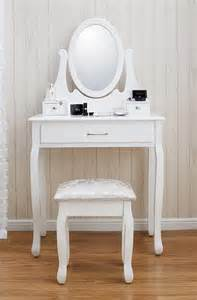 white shabby chic dressing table and stool set the