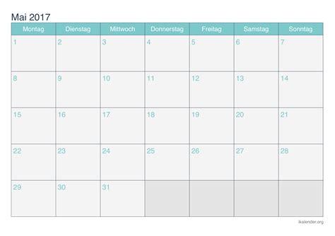 Mai Kalender 2017 Kalender Mai 2017 Zum Ausdrucken Ikalender Org