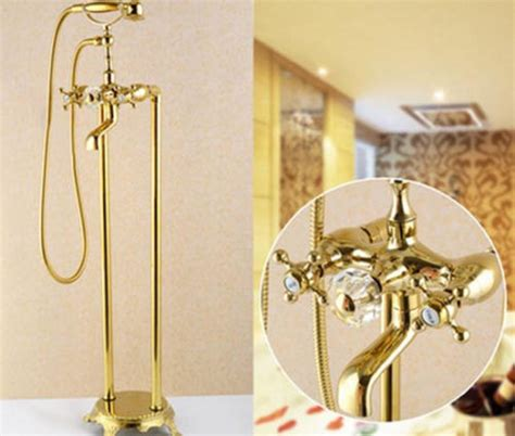 refinishing brass bathroom fixtures gold brass details about free floor standing bathroom tub
