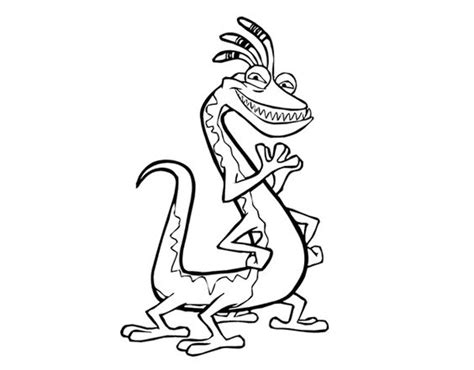 monsters inc coloring pages randall randall boggs funny monsters inc coloring pages
