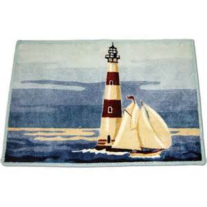 painterly lighthouse rug bath walmart