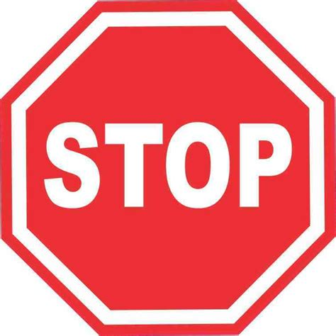 Stop X 5inx5in Stop Sign Sticker Vinyl Road Signs Stickers