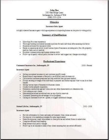 Insurance Agent Resume, Occupational:examples, samples