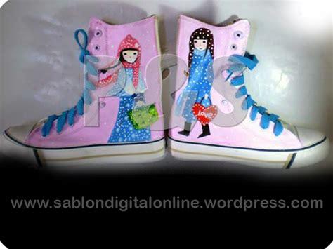 Cat Sepatu Kanvas Jogja contoh sepatu lukis sablon sablon digital sablon