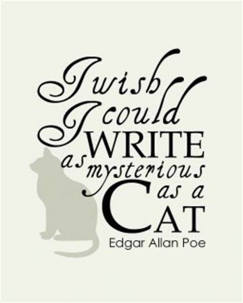 edgar allan poe biography work cited i wish i could write as mysterious as a cat edgar allan