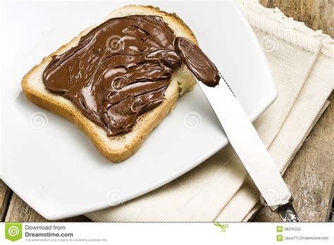White Bread With Nutella Stock Photography   Image: 38235222