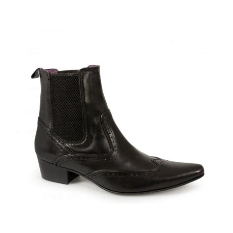 buy gucinari mens pointed leather brogue chelsea boots