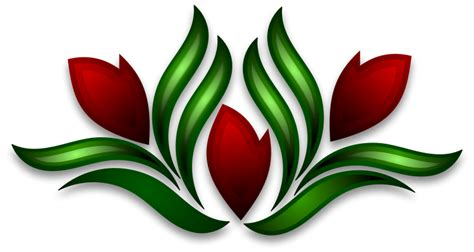 Southwestern Home flower motif clip art 42