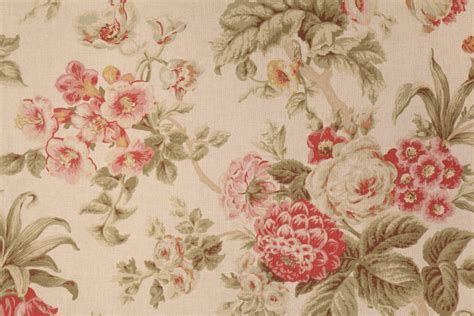 floral drapery fabric braemore floral printed cotton drapery fabric in antique