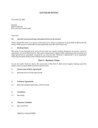 Letter Of Intent Template Manufacturing Manufacturing Agreement Forms And Business Templates Megadox
