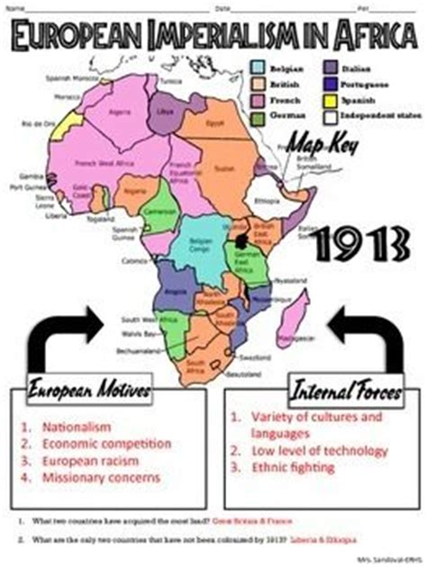 imperialism in africa worksheet the world s catalog of ideas