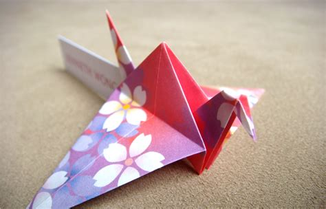 Origami Place Card - pink orchid weddings beautiful place cards origami cranes