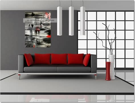 badezimmer leinwand kunst gem 228 lde 3d rot abstrakt unikat modern kunst bild