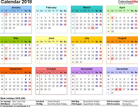 microsoft word calendar template 2018