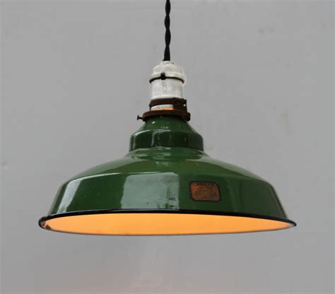 vintage industrial pendant light vintage industrial green enamel pendant light fixture by turul