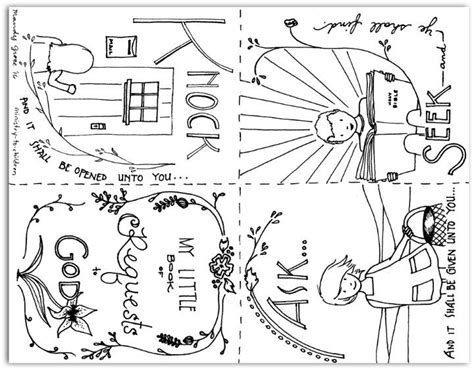 Matthew 7 Coloring Pages by This Set Of Coloring Pages Form A Printable Mini Book That
