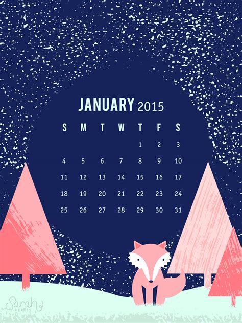 sarah hearts january  calendar wallpaper