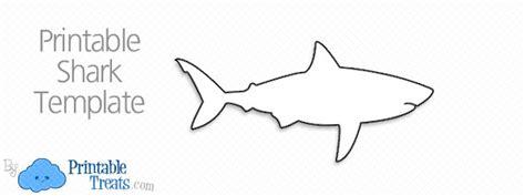 shark template printable shark cut outs printable treats