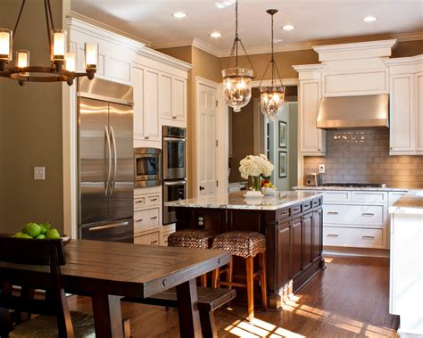 fantastic two tone kitchen cabinets pictures decorating