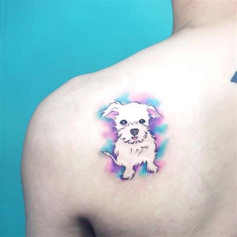 perro estilo acuarelas tatuajes para