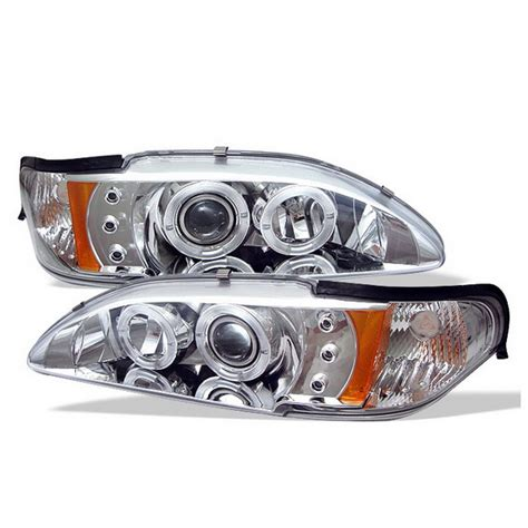Reflektor Jute Led Crome Headl 1994 98 ford mustang chrome led halo 1pc projector headlights